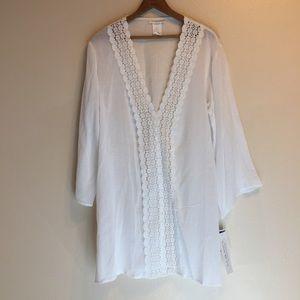 La Blanca Crochet Trim Tunic Coverup
